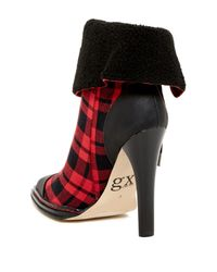 Gx By Gwen Stefani - Red Tribe Cap Toe Faux Fur Cuff Bootie - Lyst