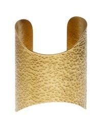 Soko | Metallic Hammered Shield Cuff | Lyst