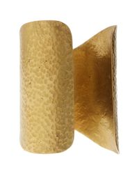 Soko - Metallic Hammered Shield Cuff - Lyst