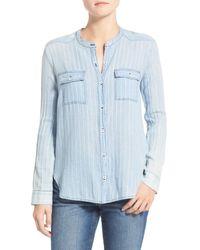 Splendid | Blue Oroya Stripe Chambray Shirt | Lyst