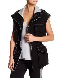 Norma Kamali | Black Sleeveless Cargo Jacket | Lyst