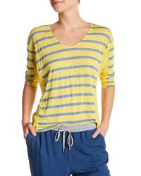 Splendid | Yellow Scoop Neck Dolman Shirt | Lyst