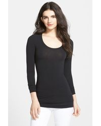 Splendid - Black Long Sleeve Tee - Lyst