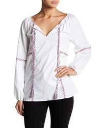 Sugarlips - White Aster Embroidered Blouse - Lyst