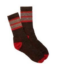 Smartwool | Red Stripe Chestnut Socks for Men | Lyst