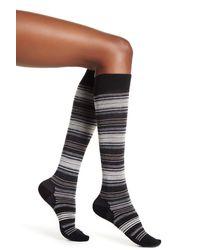 Smartwool - Black Arabica Stripe Wool Blend Socks - Lyst