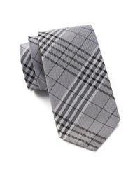 Ben Sherman - Black Plaid Silk Tie for Men - Lyst