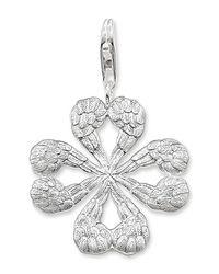 Thomas Sabo - Metallic Sterling Silver Textured Clover Pendant - Lyst