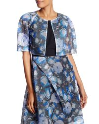 Sachin & Babi | Blue Crop Floral Open Knit Jacket | Lyst