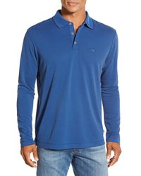 Tommy Bahama | Blue 'superfecta' Stripe Long Sleeve Polo for Men | Lyst