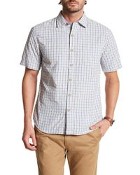 Tommy Bahama | White Reel, Deal Check Original Fit Short Sleeve Shirt for Men | Lyst