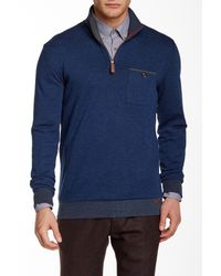Ted Baker - Blue Bevyhil Half Zip Pullover for Men - Lyst