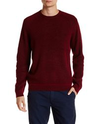 Ted Baker | Red Rib Panelled Long Sleeve Crewneck Sweater for Men | Lyst