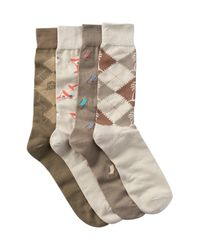 Tommy Bahama | Natural Casual Crew Socks - Pack Of 4 for Men | Lyst