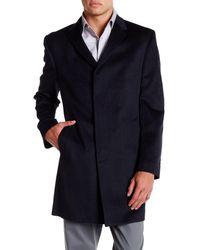 Kenneth Cole | Blue Notch Lapel Longline Coat for Men | Lyst