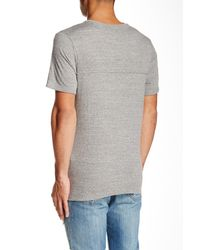 Threads For Thought - Gray Double Layer Crew Neck Tee for Men - Lyst