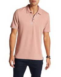 Threads For Thought | Pink Short Sleeve Burnout Polo for Men | Lyst