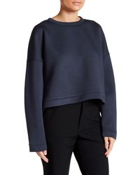 Tibi | Blue Luxe Double-faced Sweater | Lyst