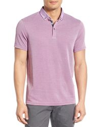 Ted Baker | Purple 'missow' Modern Trim Fit Pique Polo for Men | Lyst