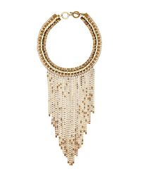 Trina Turk | Metallic Drama Box Chain Frontal Bib Necklace | Lyst
