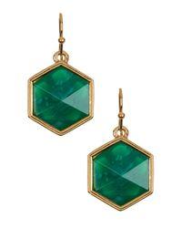 Trina Turk - Green Floret Drop Earrings - Lyst