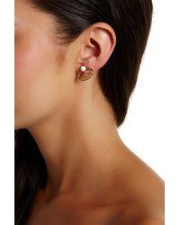 Trina Turk | Brown Convertible Button Earrings | Lyst