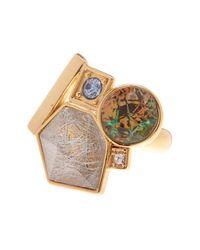 Trina Turk | Metallic Cluster Ring | Lyst