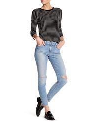 Joe's Jeans | Blue Distressed Cigarette Jean | Lyst