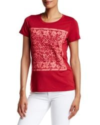 Tommy Bahama - Red Hibiscus Scarf Tee - Lyst