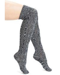 UGG | Gray Classic Cable Knit Over-the-knee Socks | Lyst