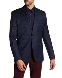 Versace | Blue Notch Lapel Two Button Print Sportcoat for Men | Lyst