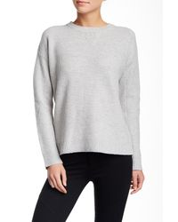 Vince | Gray Crew Neck Wool Blend Sweater | Lyst