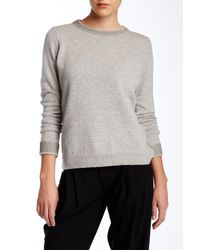 VINCE | Gray Foil Print Wool Blend Crew Neck Sweater | Lyst