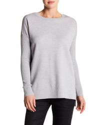 VINCE | Gray Long Sleeve Knit Wool Blend Tunic Pullover | Lyst