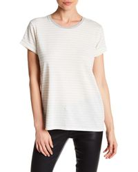 VINCE | White Rolled Sleeve Stripe Shirt | Lyst