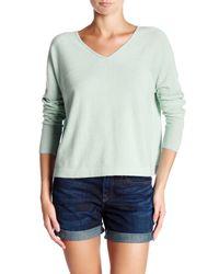 Vince | Green Long Sleeve V-neck Cashmere Pullover | Lyst