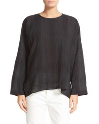 Vince | Black Drapey Easy Top | Lyst