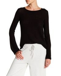 Vince - Black Long Bell Sleeve Cashmere Sweater - Lyst