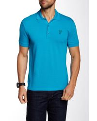Versace | Blue Crew Tee for Men | Lyst