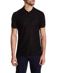Versace | Black Short Sleeve Polo for Men | Lyst