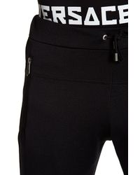 Versace | Black Drawstring Knit Pant for Men | Lyst