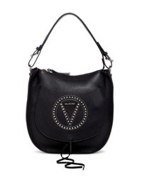 Valentino By Mario Valentino | Black Vivienne Leather Hobo | Lyst