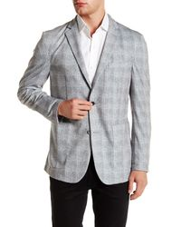 Vince Camuto | Gray Plaid Slim Fit Blazer for Men | Lyst
