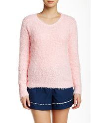 Pj Salvage - Pink Boucle Knit Sweater - Lyst