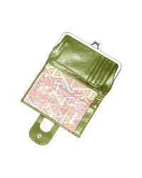 Hobo - Green Alice Leather Wallet - Lyst