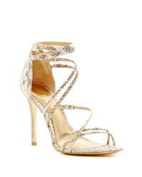 Vince Camuto Signature | Multicolor Marlie Genuine Snakeskin Heel Sandal | Lyst