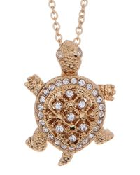 Nadri | Metallic Crystal Pave Turtle Pendant Necklace | Lyst