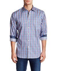 Bugatchi - Blue Classic Fit Directional Stripe Shirt for Men - Lyst
