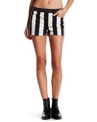 Genetic Denim - Black Cara Striped Short - Lyst