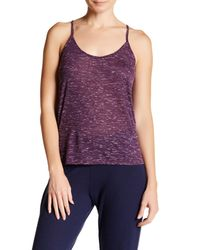 Alo Yoga | Purple Helena T-back Tank | Lyst